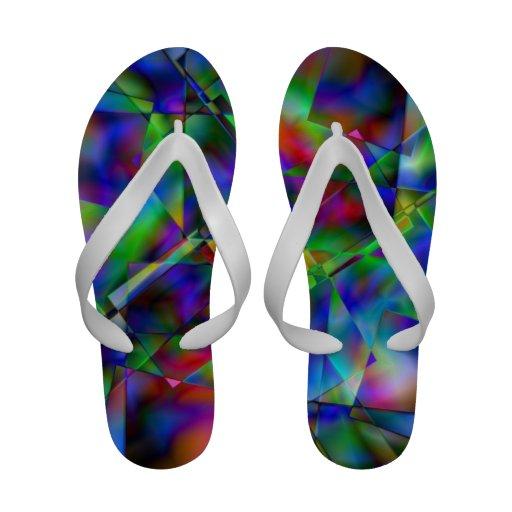 Shards of Glass Flip Flops