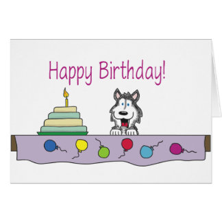 Share a Husky Birthday Card