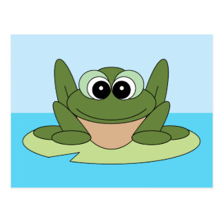 Share a Smile Happy Frog Postcard