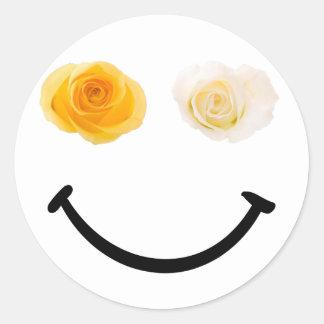 Share a Smile Mismatch Rose Sticker