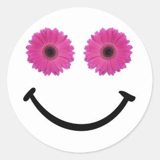 Share a Smile Pink Flower Sticker