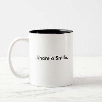 Share a Smile Red Rose Two Tone Mug