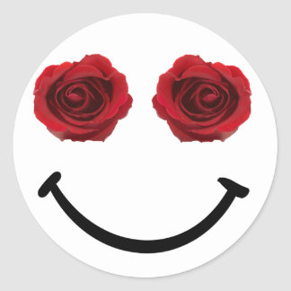 Share a Smile Rose Sticker