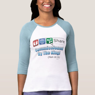 Share: Commissioned by the King!  Ladies Raglan Shirts