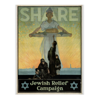 Share - Jewish Relief Campaign Poster