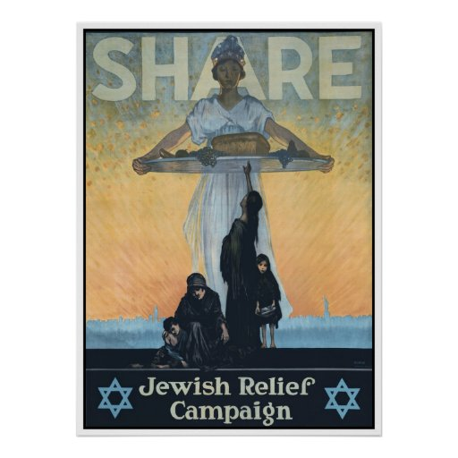 Share Jewish Relief World War I Poster