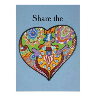 Share Love 14 Cm X 19 Cm Invitation Card