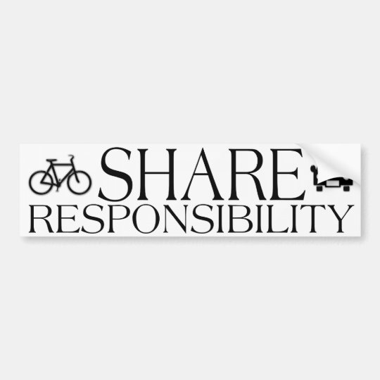 Share Responsibility Bumper Sticker