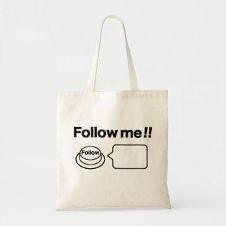 Share/Social Button: Follow me!! Budget Tote Bag