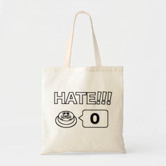 Share/Social Button: I Love You: Hate!!! 0 Budget Tote Bag