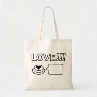 Share/Social Button: Love!!! Budget Tote Bag
