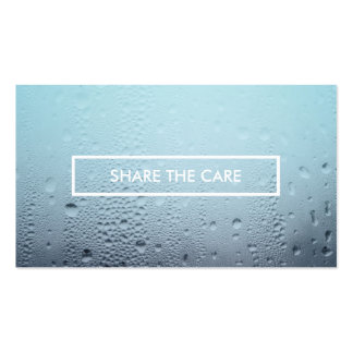 share the care steamed glass business card templates