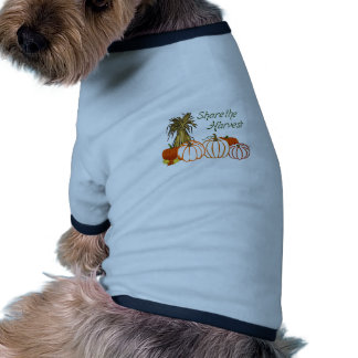 SHARE THE HARVEST APPLIQUES DOGGIE TEE SHIRT