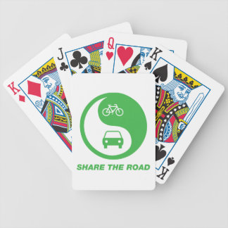 Share the Road Bicycle Playing Cards