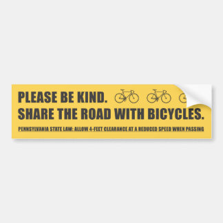 Share The Road Bicycle Safety Sticker Car Bumper Sticker