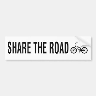 SHARE THE ROAD - cyclists message Bumper Sticker