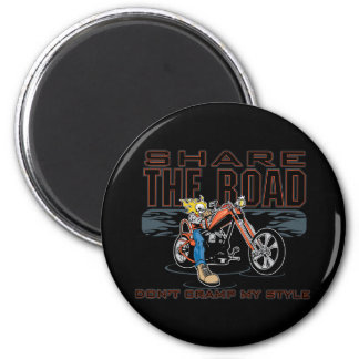 Share the Road Motorcycle Refrigerator Magnets