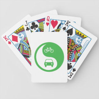 Share the Road Yin Yang Bicycle Playing Cards