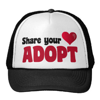 Share Your Heart Adopt Mesh Hats