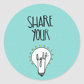 Share Your Light Sticker