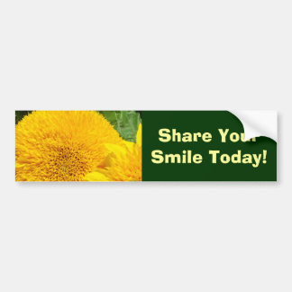 Share Your Smile Today! bumper stickers Sunflowers
