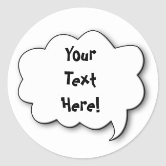 Share Your Thoughts Round Sticker