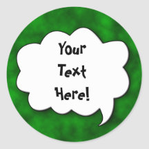 Share Your Thoughts Round Stickers