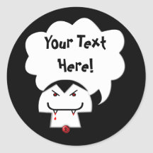 Share Your Thoughts: Vampire Round Sticker