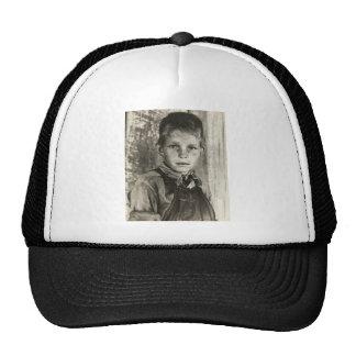 Sharecropper's son – 1937. mesh hat