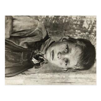 Sharecropper's son – 1937. postcard