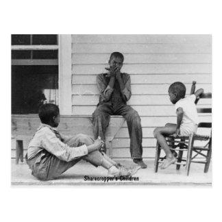Sharecropper's Children, ca 1935 Postcard