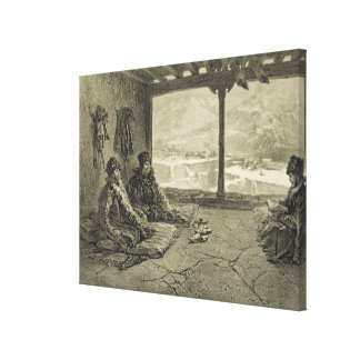 Sharia Lecture at Khosrakh, Dagestan, plate 50 fro Canvas Print