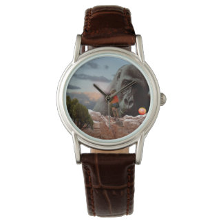 Sharing An Apple With A Gorilla, Ladies Leather Watch