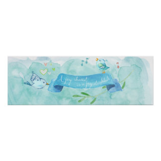 Sharing Doubles the Joy Watercolor Poster