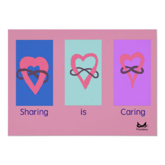 """""""Sharing is Caring"""" Polyamory Party Invite"""
