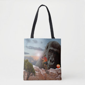 Sharing Lunch With An Ape, Tote Bag