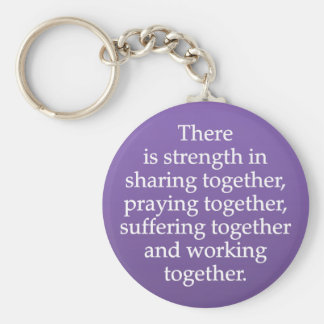 Sharing, Praying, and Working Together Key Ring