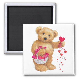 Sharing the Love Square Magnet