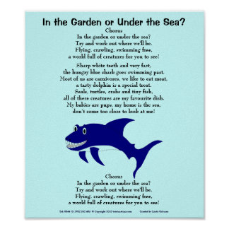 Shark 1, In the Garden or Under the Sea?, Choru... Poster