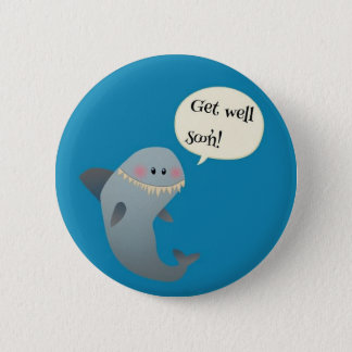 Shark 6 Cm Round Badge