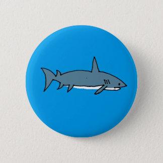 Shark 6 Cm Round Badge