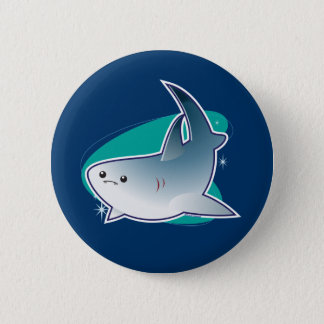 Shark! 6 Cm Round Badge