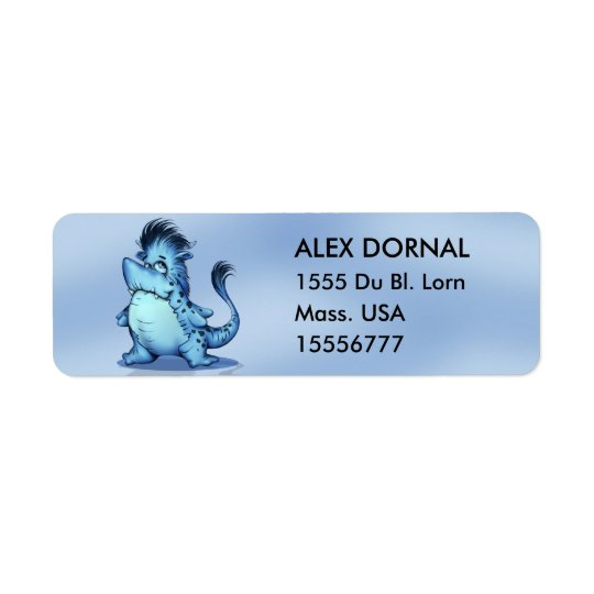 SHARK ALIEN CARTOON Return Address Labels