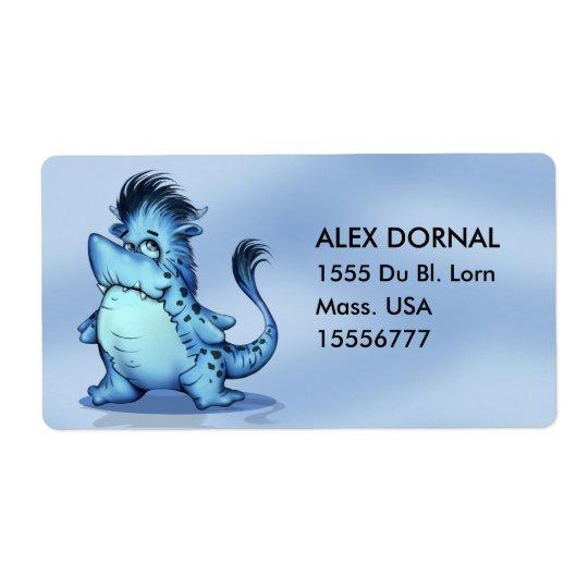 SHARK ALIEN CARTOON  Shipping Labels