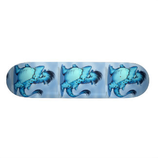 "SHARK ALIEN CARTOON Skateboard 7¾"""