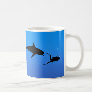 Shark and SCUBA Coffee Mug