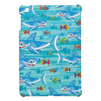 Shark and Tropical Fish Pattern Case For The iPad Mini