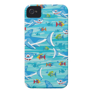 Shark and Tropical Fish Pattern iPhone 4 Case