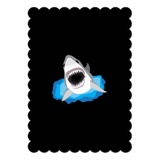 "Shark Attack - Add Your Own Funny Caption 5"" X 7"" Invitation Card"