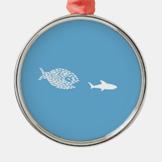 Shark attack christmas ornament